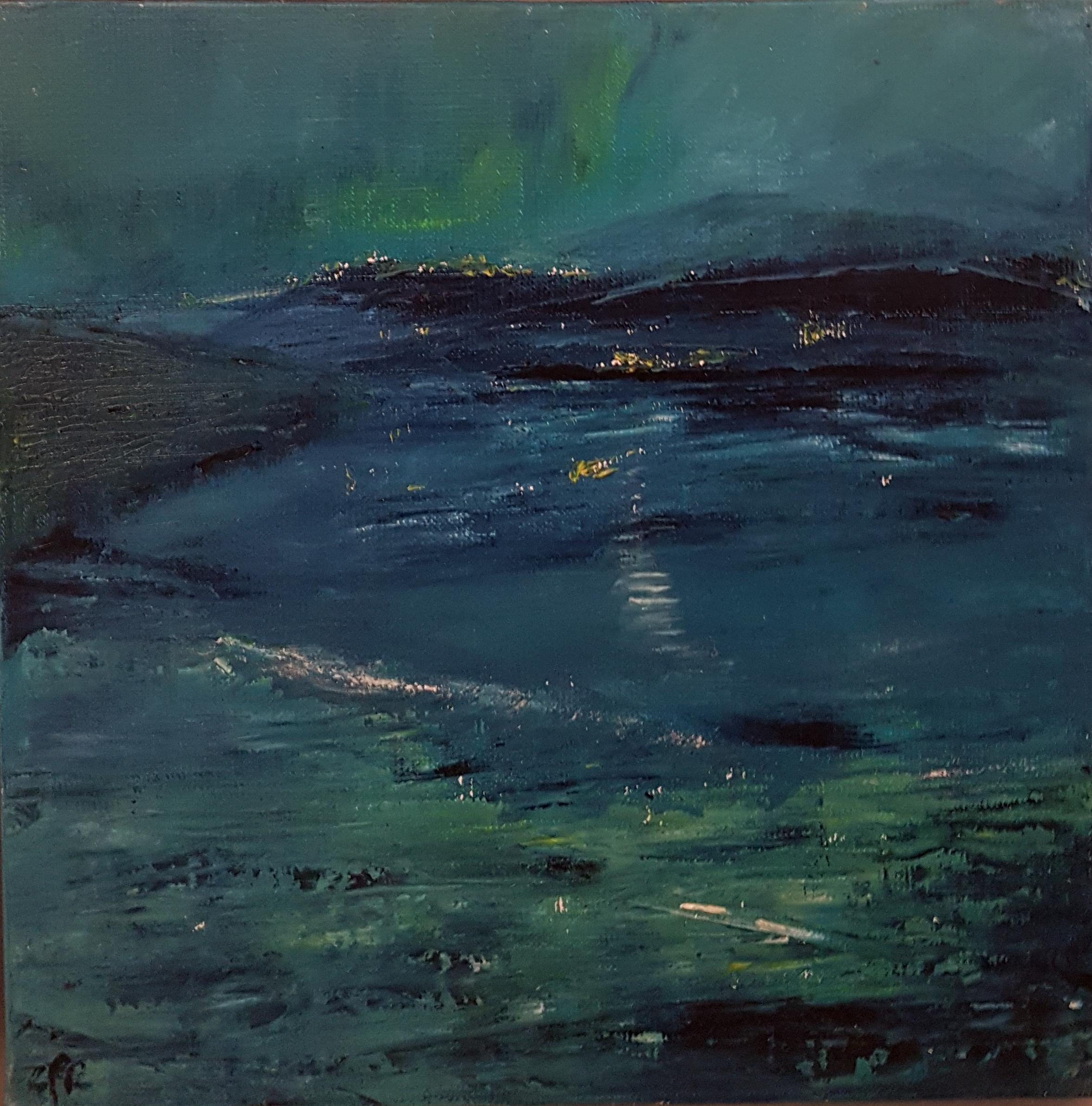 Sérénité du soir, 30x30 cm