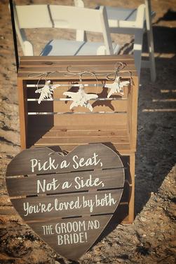 florida beach wedding sign
