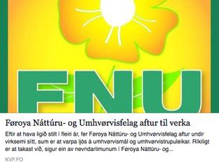 Samrøða við FNU í tíðindunum í KVF
