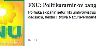Samrøða: Politikararnir ov bangnir!