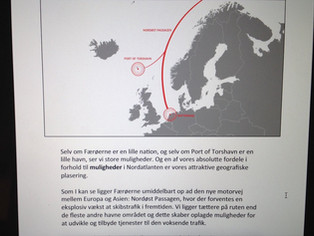 Ætlanin um havnarútbyggingina og at gera Tórshavn til tænastumiðdepil fyri skipaferðslu í Arktis er