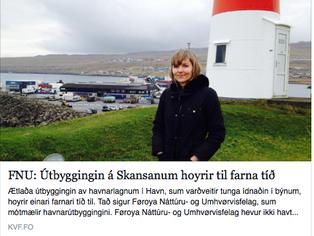 Samrøða við FNU um útbyggingina á Skansanum