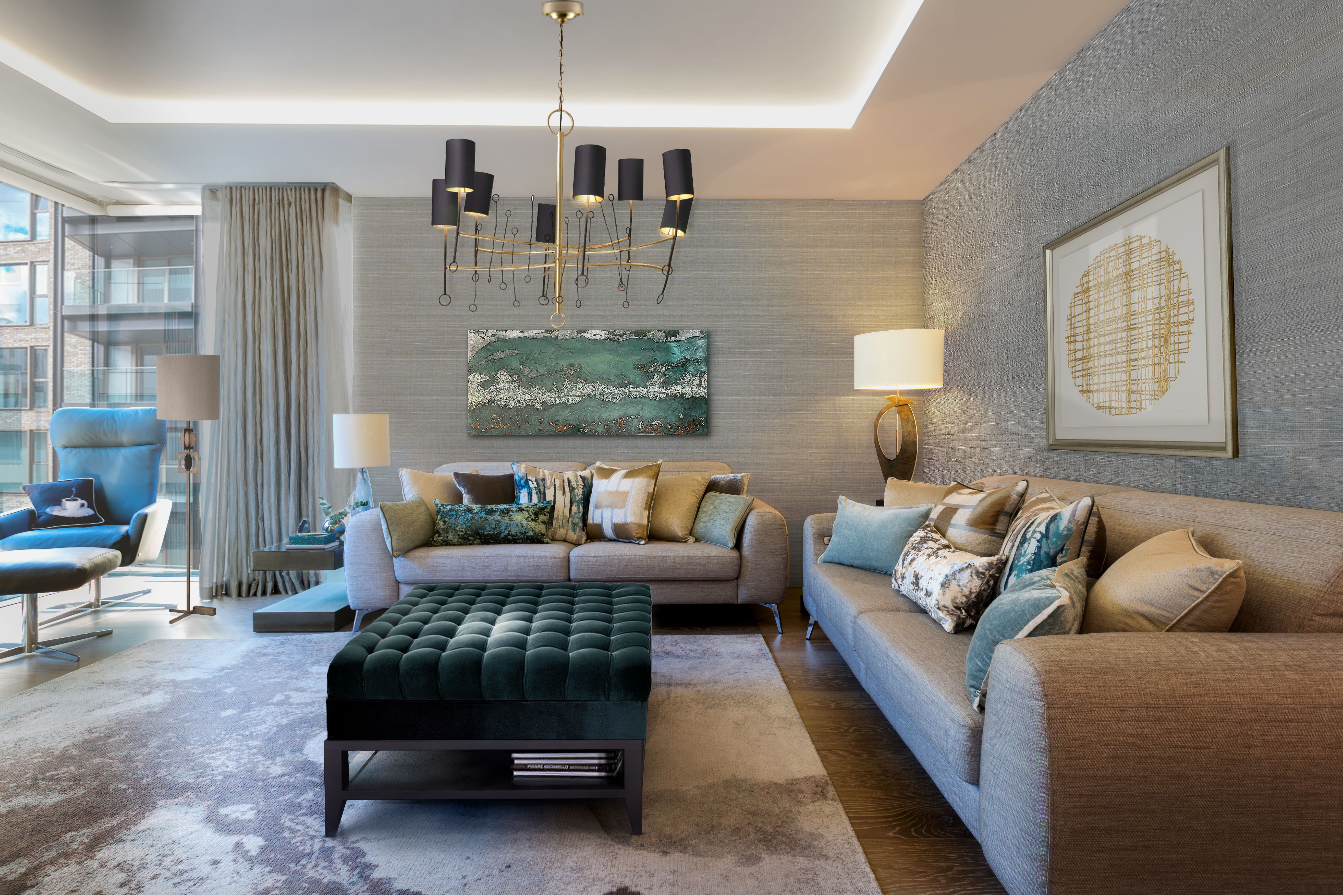 London interior design living room