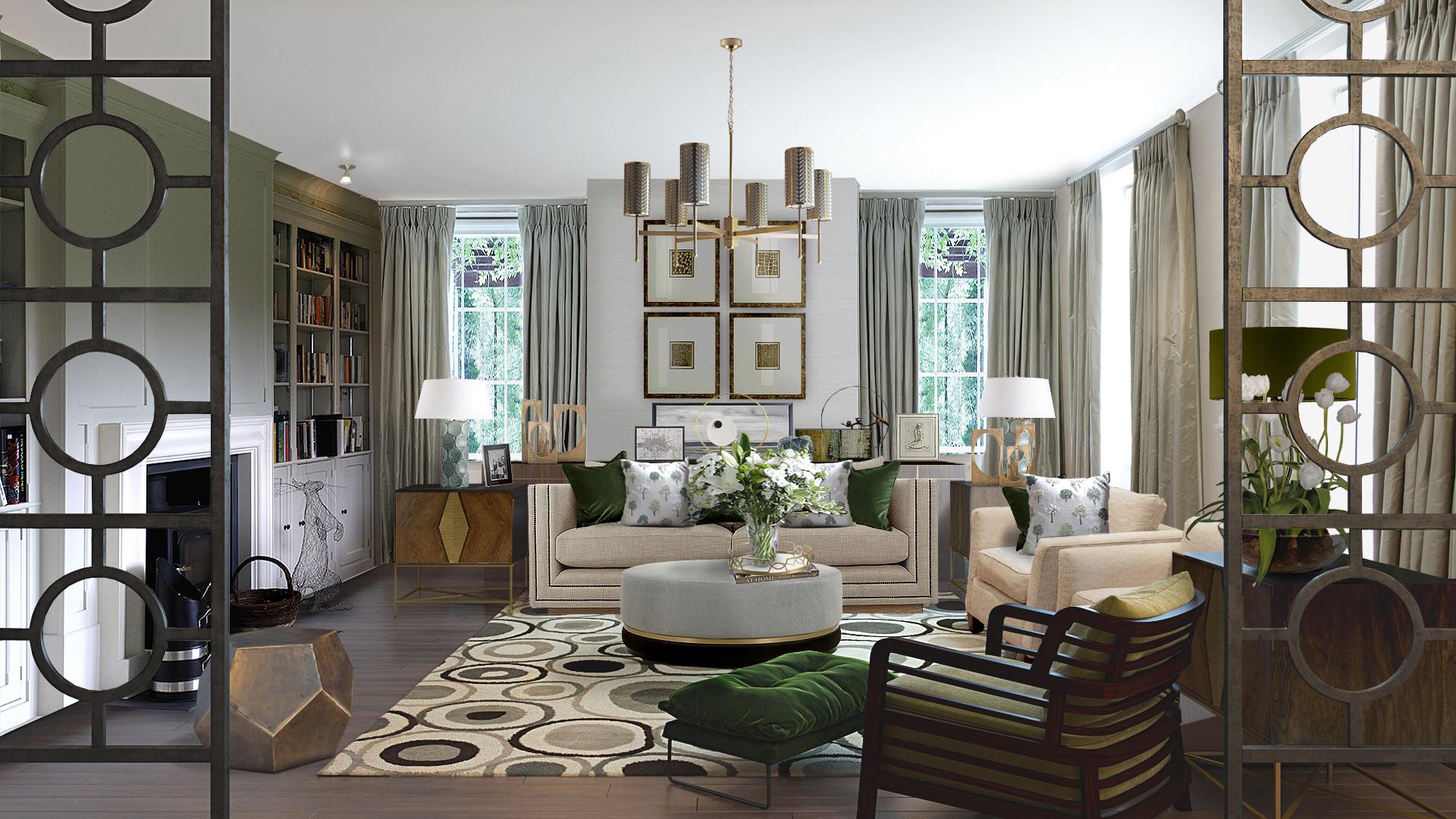 Surrey interior design living room