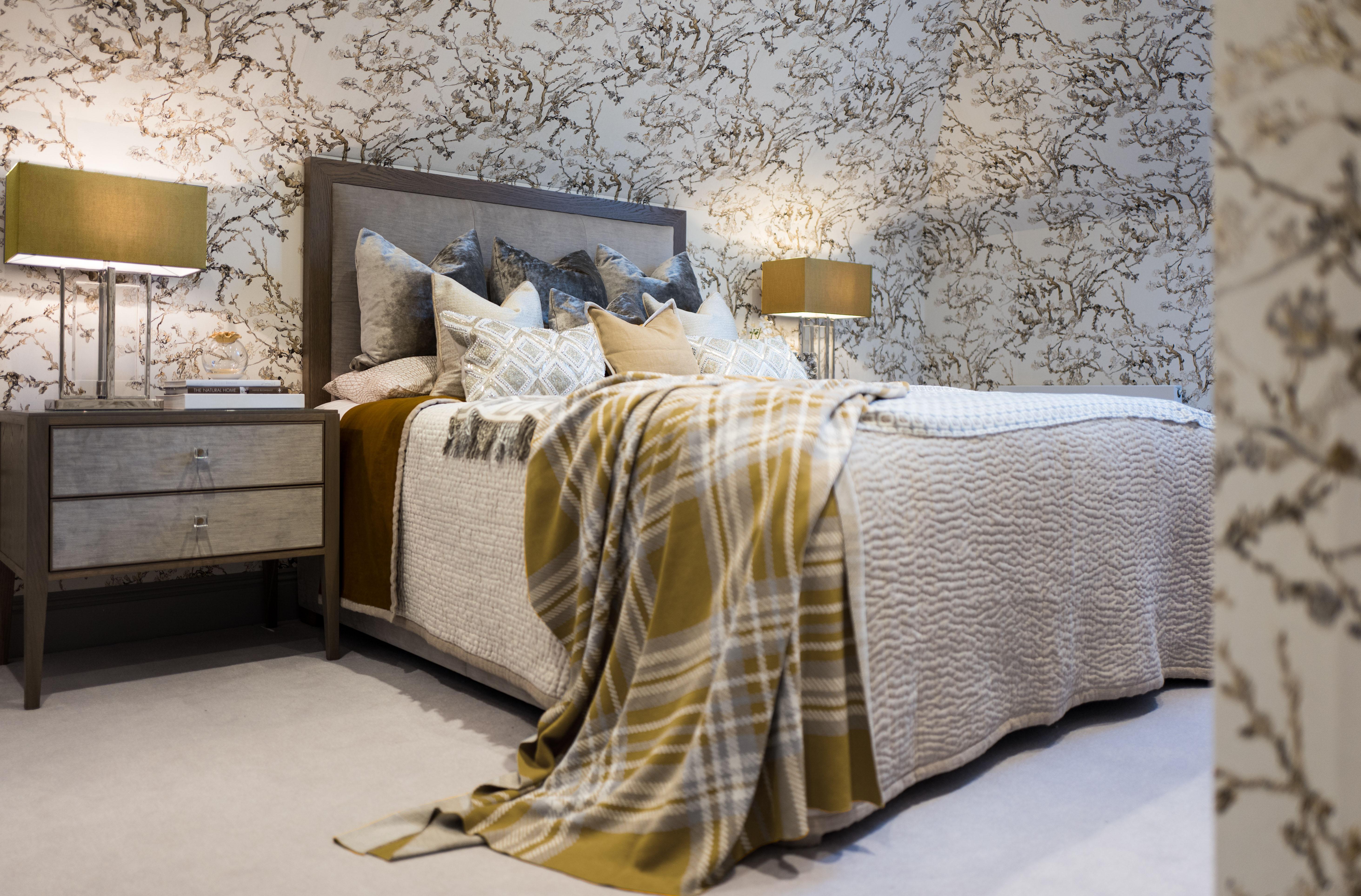 Interior design london bedroom grey