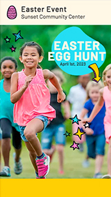 Events website templates – Easter Egg Hunt