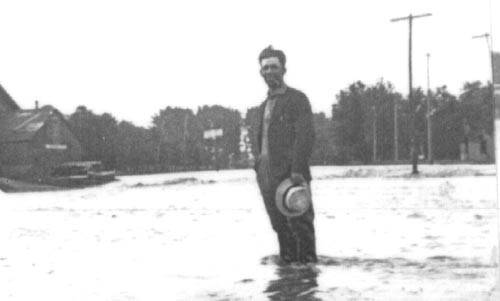 Man Standing in the middle of what is now County Road 16, looking towards Porter's South-side. If you can identify this man, please contact us at the bottom of this page.