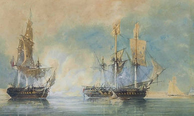 HMS_Crescent_capturing_the_French_frigat