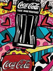 Romero Britto serigraph Coca Cola Suite . Celebration