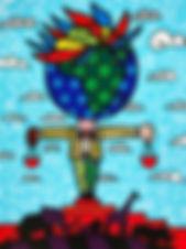 Romero Britto serigraph The Globe Generation - Africa