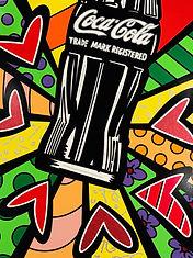 Romero Britto serigraph Coca Cola Suite - Love