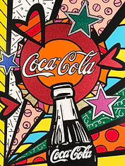 Romero Britto serigraph Coca Cola Suite - Sunshine