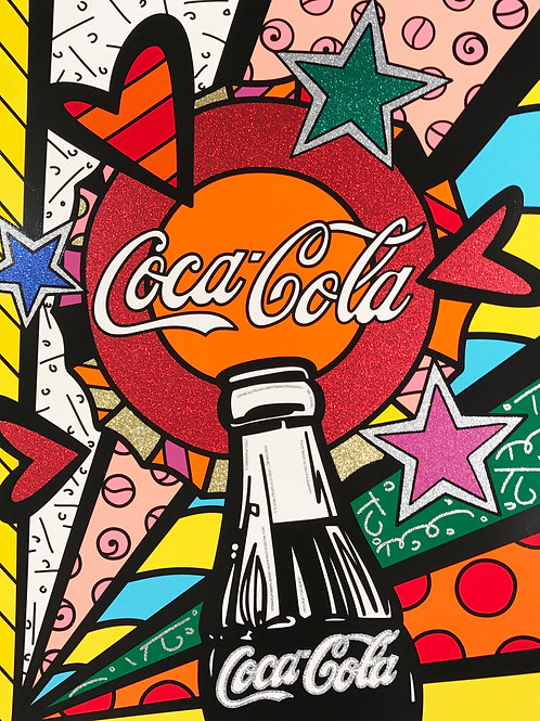 Romero Britto - COCA COLA III SUNSHINE - original signed serigraph print