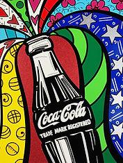 Romero Britto serigraph Coca Cola Suite - Sharing