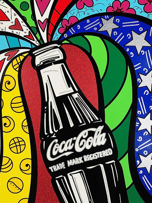 Romero Britto - COCA COLA I SHARING - original signed serigraph print