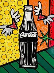 Romero Britto serigraph Coca Cola Suite - Happiness