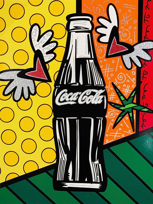 Romero Britto - COCA COLA V HAPPINESS - original signed serigraph print
