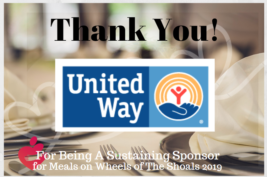 Sustaining MOWS Sponsor, United Way - Thank you!
