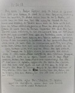 Mother's Program Letter