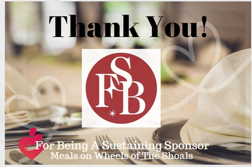 First Southern Bank, a Sustaning Sponsor with Meals on Wheels Shoals