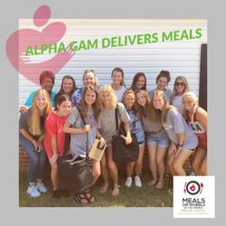 Alpha Gamma Delta Delivers Meals