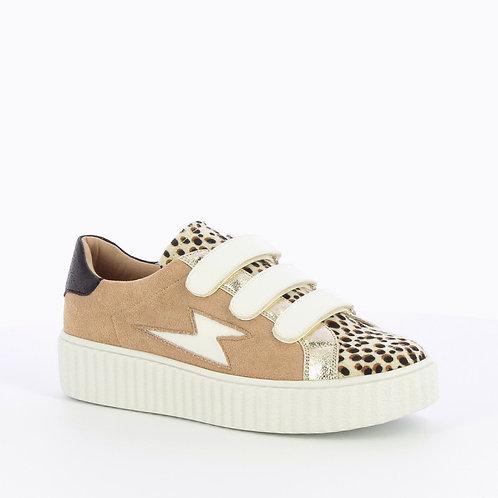 Baskets éclair léopard