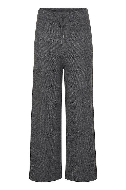 Pantalon en maille côtelé