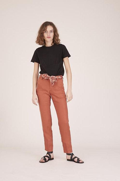 Pantalon THEA Tencel - Terre battue