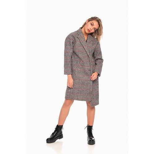 Manteau à carreaux oversize