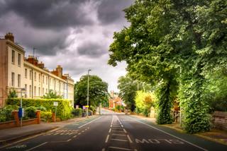 London Road, Hillfield Parade on left