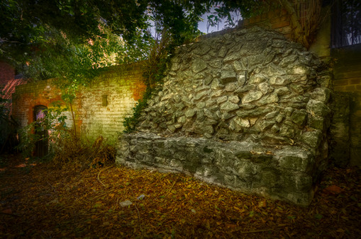 Wall remnant in St. Lucy's Gardens