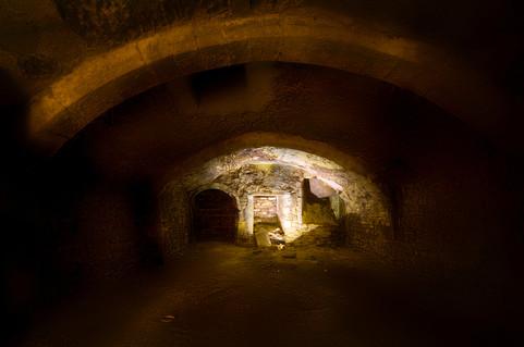 13th-century undercoft beneath 76 Westgate Street