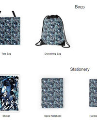 Mysterious Blue bags, notebooks etc.