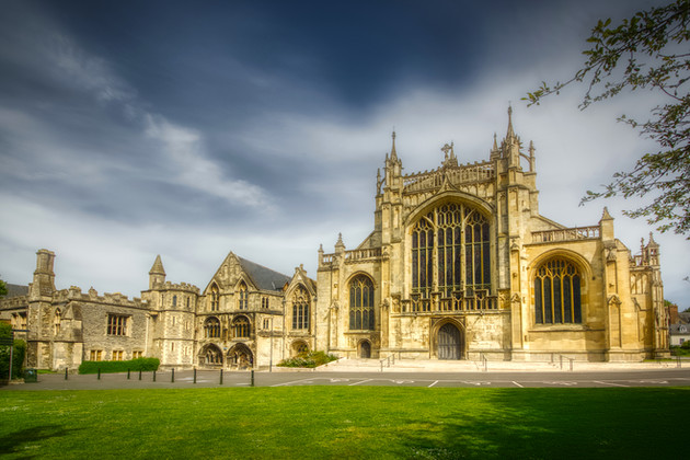 Former Great Court at Gloucester Cathedral