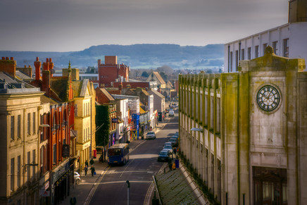 View down lower Eastgate Street
