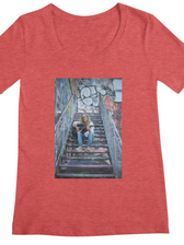 Red_fitted_tee_SongsOnTheSteps