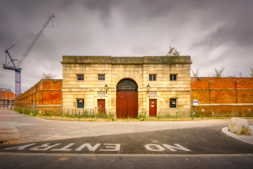 Prison gatehouse