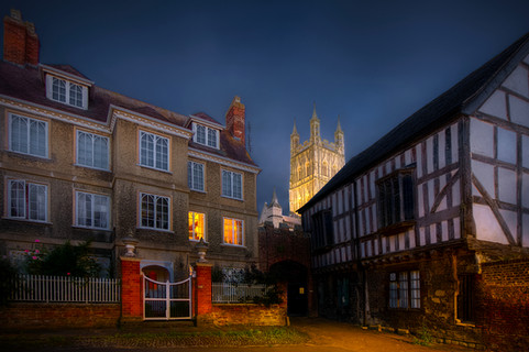 Inner court (Miller's Green) at Gloucester Cathedral