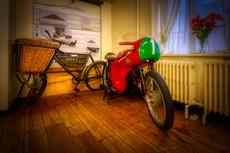 Cotton Motorcycle exhibit