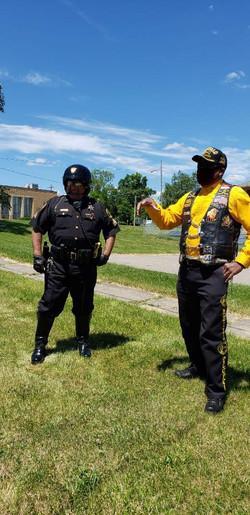 Mbili with Sergeant Sanchez