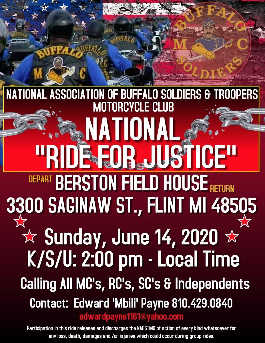 Ride for Justice Flint BSMC June 14 2020