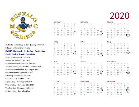 BSMC Flint MI Chapter 2020 Calendar 002.