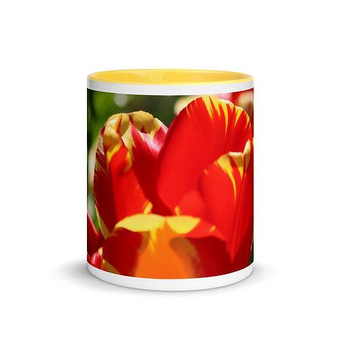 Flowers - Mug with Color Inside