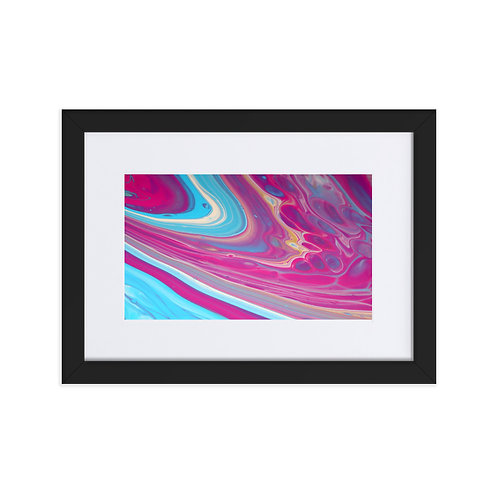 Abstract Harmony Painting 1 - Matte Paper Framed Poster With Mat