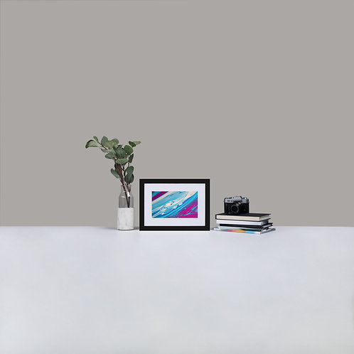 Abstract Harmony Painting 2 - Matte Paper Framed Poster With Mat