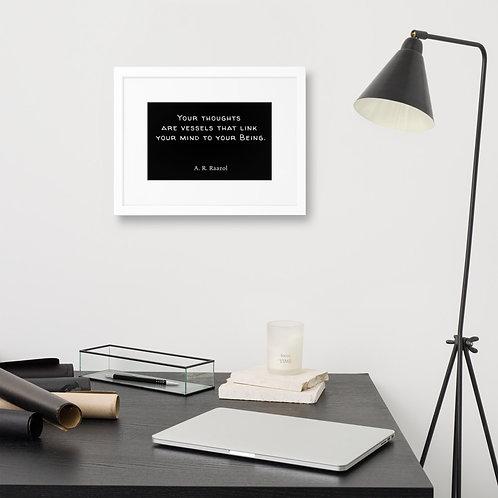 Thoughts Framed Poster - Black
