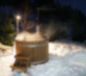 Baño nórdico a la medianoche