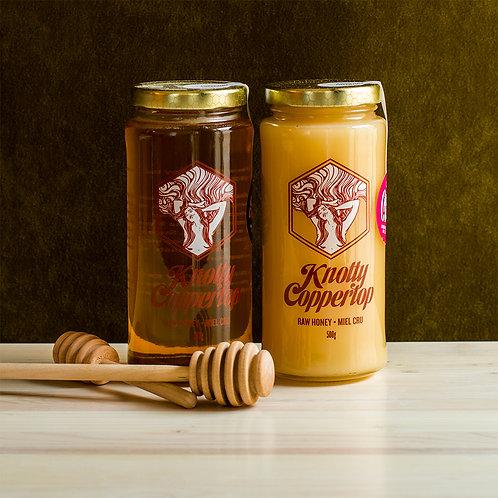Knotty Coppertop Unpasteurized Honey - Spring/Summer Floral Blend 500g