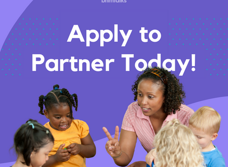 Child Care Centers: Apply TODAY to Partner with Birmingham Talks!