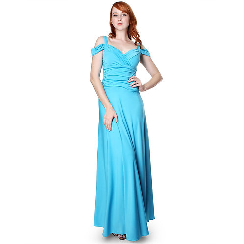 Evanese Women's Slip on Elegant Formal Long Evening Dress Full-Length Ball Gown